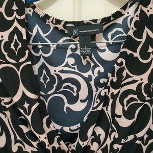INC International Concepts Tops - INC Velvet Patterned Long Sleeve Top
